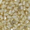 Miyuki Tila Half Cut 5X2.3mm 2Hole Ivory Pearl Opaque Ceylon